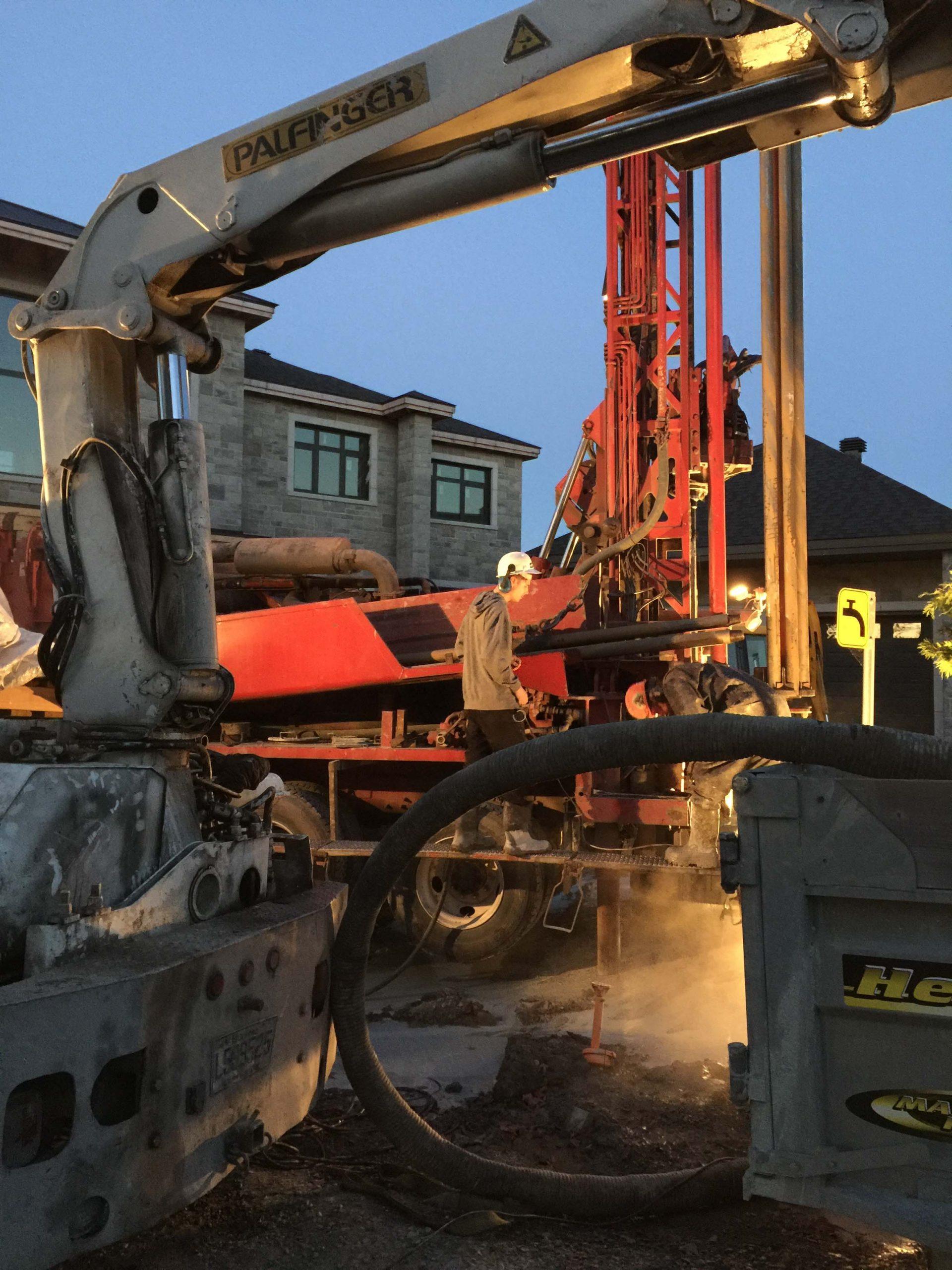 construction geothermie1_Bernard Grondin Construction et renovation
